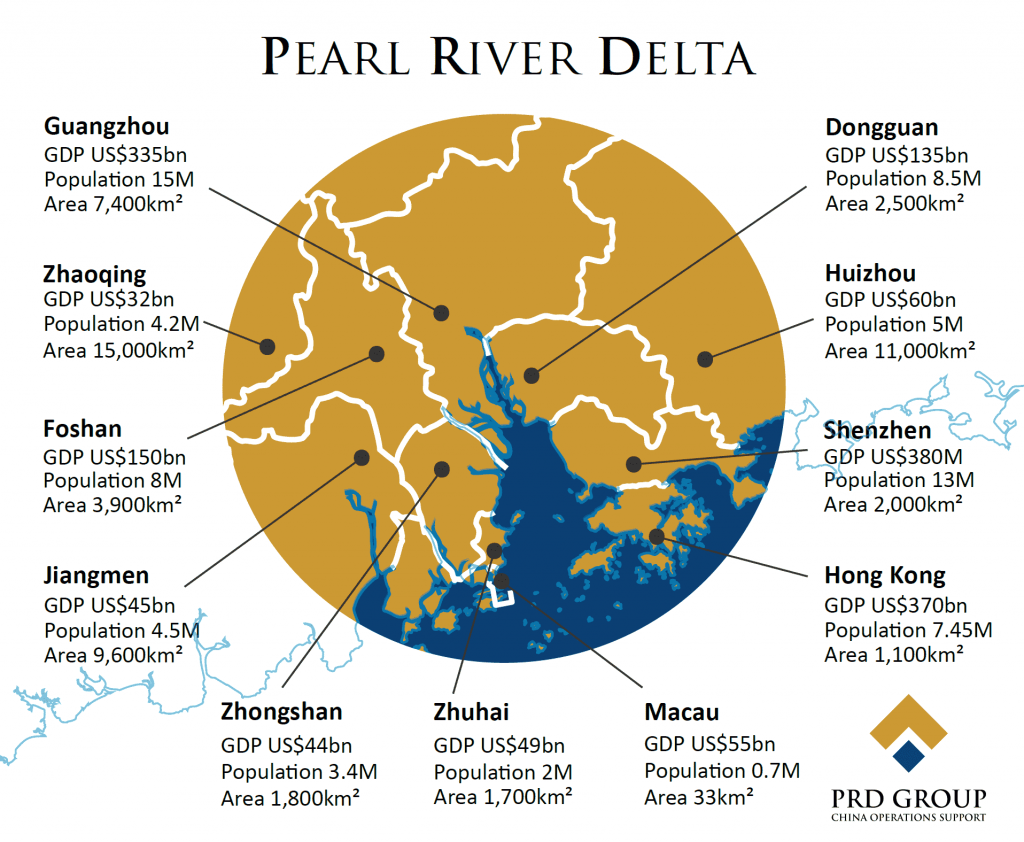 Pearl River Delta map